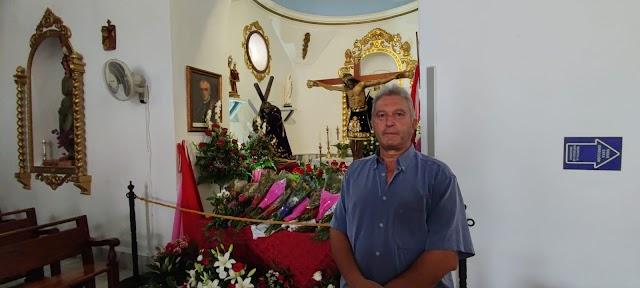 Juan Blanquez, secretario de la Hermandad del Cristo de Bacares.