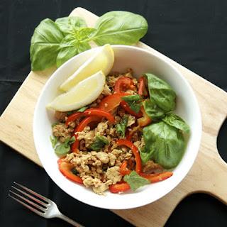 Thai Inspired Basil Chicken Stir Fry