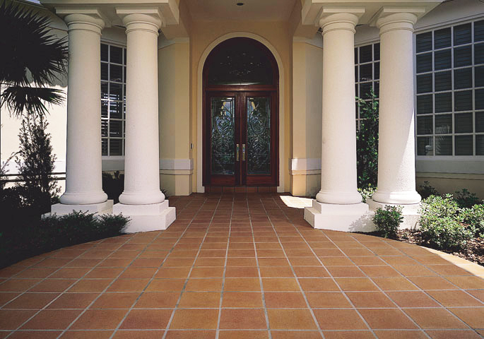 Photo: Italian Tile adds a sense of tradition, warmth, and old world charm that other tiles don't possess. This faintly textured tile, coupled with its hard lined edge creates a feel of natural symmetry.