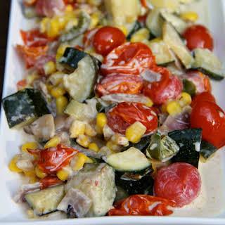 Summer Zucchini Succotash #WeekdaySupper.