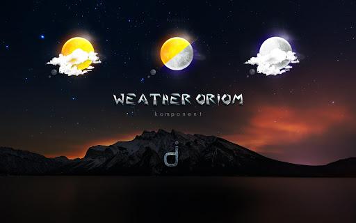 Download Komponent Klwp Weather Oriom MOD APK 2