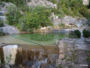 Photo: Captacions d'aigua. Daten del 1871 quan l'enginyer Julio Carvallo va construir al barranc un sistema per abastir Tortosa.