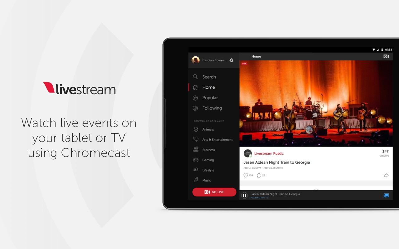 Livestream screenshots