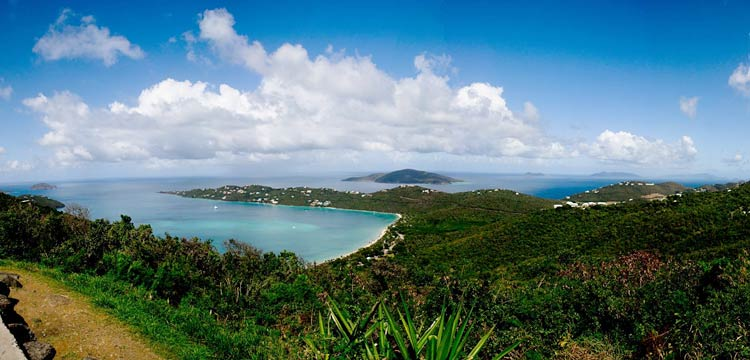 Take charge of your shore excursions! Megan's Bay on St. Thomas in the U.S. Virgin Islands.