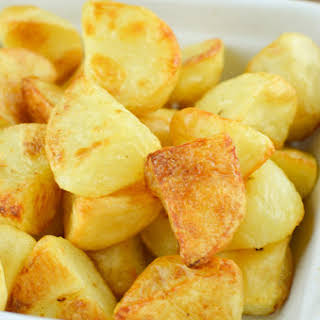 Best Ever Syn Free Roast Potatoes.