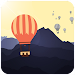 Rise the balloon up icon