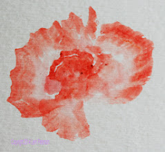 Photo: Watercolor - using an angle brush.