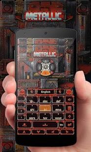 Modern Metal GO Keyboard Theme - náhled