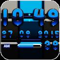 DIgi Clock Black Blue widget icon