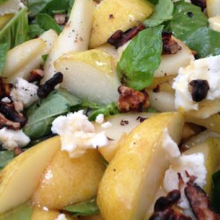 Basil Pear Salad in Lemon Honey Dressing