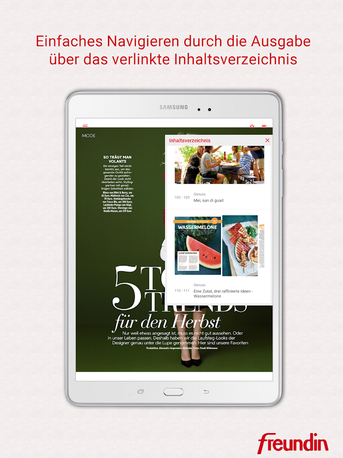 freundin Magazin DE- screenshot