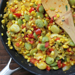 Corn and Lima Bean Ragout.