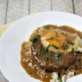 Meatless Loco Moco With Savory Onion Gravy
