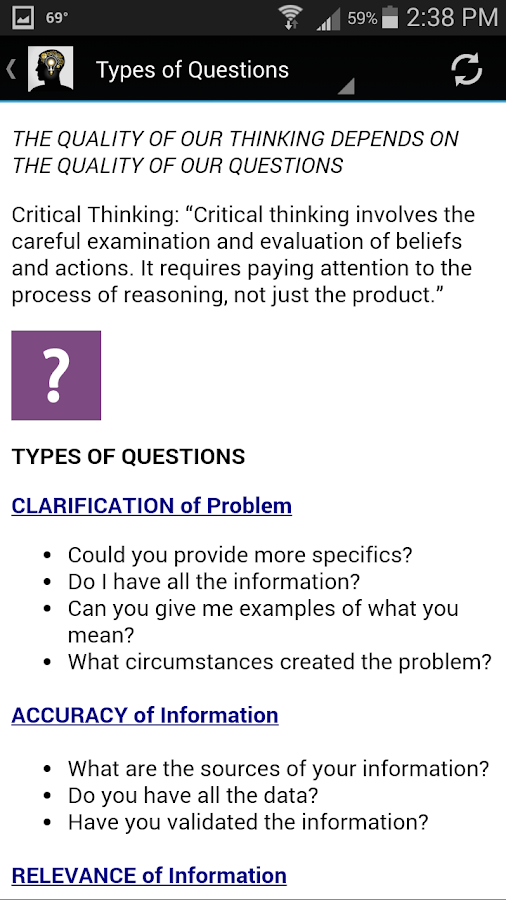 Critical Thinking- screenshot