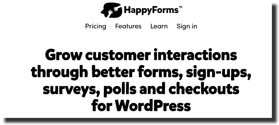 HappyForms design mobile-responsive forms