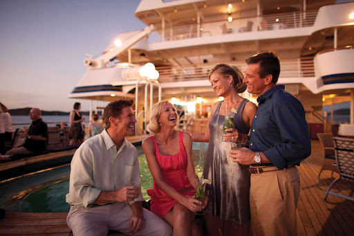 SeaDream-evenings.jpg - Evenings on SeaDream brings guests on deck for fine wine or a bite to eat.