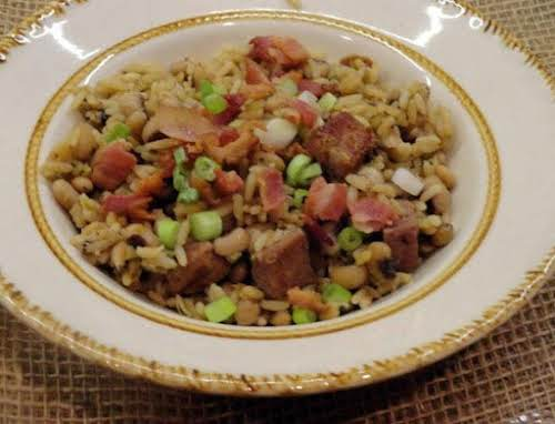 "Mom's New Year's Hoppin' John ""My brother usually makes the Hoppin' John..."