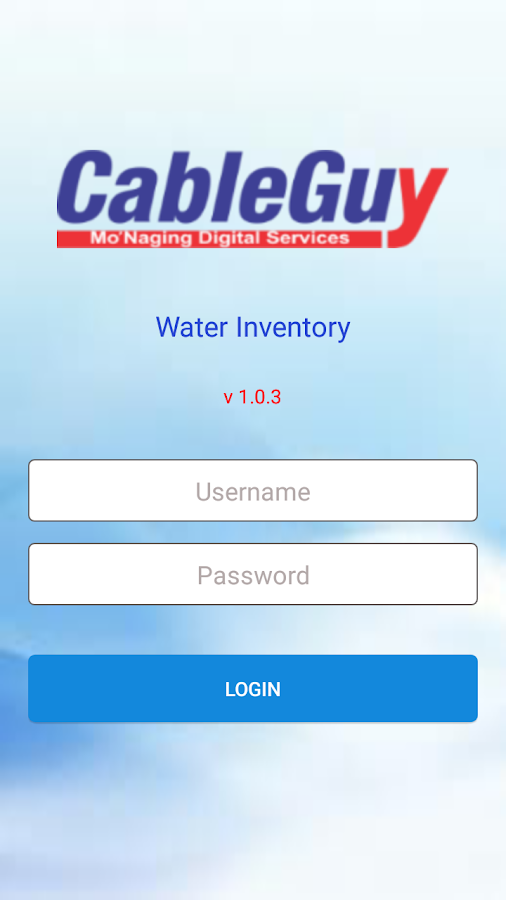 Cableguy - Water Inventory- screenshot