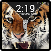 Zipper Lock Screen Tiger