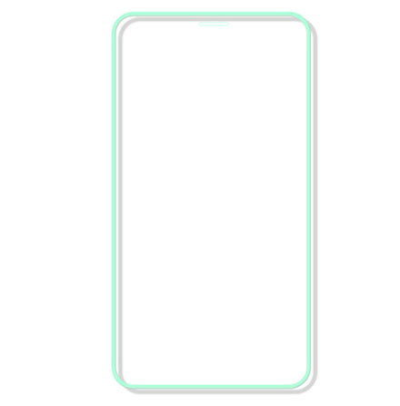 iPhone 11 Skärmskydd Självlysande Ram 9H 0,3mm