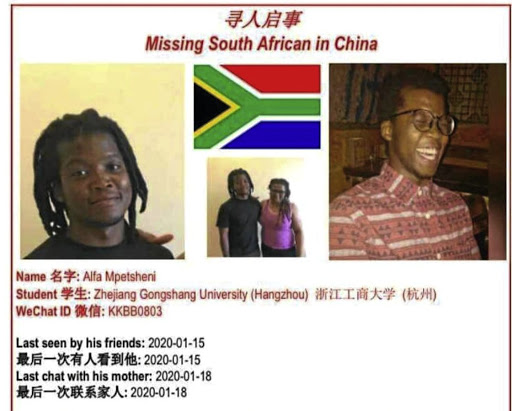 SA student goes missing in China - SowetanLIVE