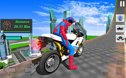 Bike Super Hero Stunt Driver Racing 1.0 screenshots 5