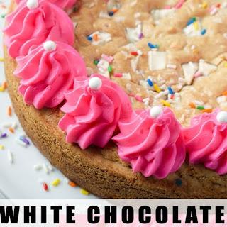 White Chocolate Funfetti Cookie Cake