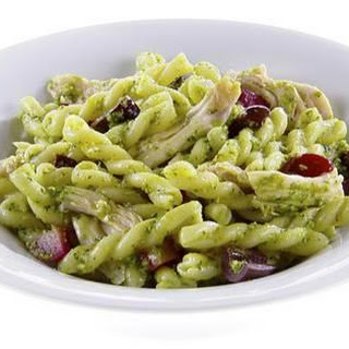Gemelli with Kale Pesto and Olives