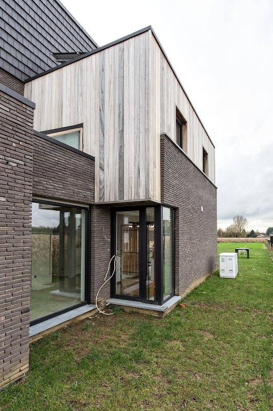 Markant samenspel van materialen Heist-op-den-Berg nieuwbouw