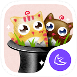 Cute Cats theme for APUS Apk