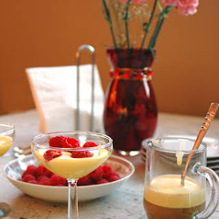Breakfast Zabaglione with Berries and Espresso.