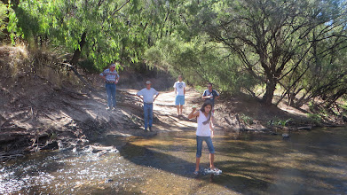 Photo: Ross, Dave, Patrick, Luly & Allan admiring the Blackwood  River