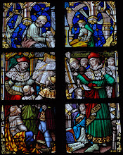 Photo: Les musiciens G. Binchois, G. du Fayt, Roland de Lassus  (chapelle de la Sainte Croix ou du Crucifix)