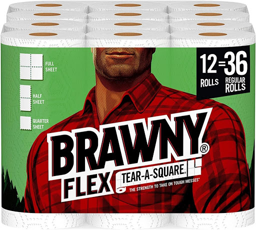 Brawny Paper Towels Triple Roll 12-Count Only $24 Shipped on Amazon | Equal to 36 Regular Rolls