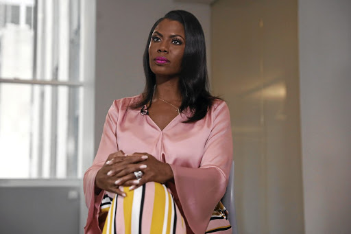 Former US White House staffer Omarosa Manigault-Newman at an interview on the release of her book, Unhinged, in Manhattan, New York, on August 14 2018. Picture: REUTERS