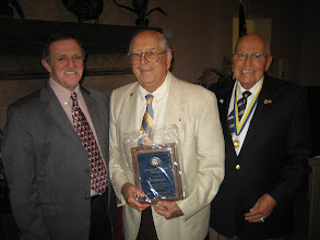 Photo: Dennis, Bob (Rotarian of the Year), and Blaine