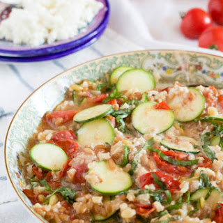 Whole Grain Salad with Roasted Tomatoes