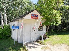 Photo: das Postoffice von Chisholm Mills (12 Einwohner) Arbeitsplatz von Barb