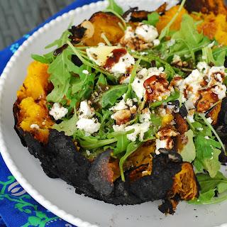 Fire Roasted Pumpkin, Arugula and Goat Cheese Salad
