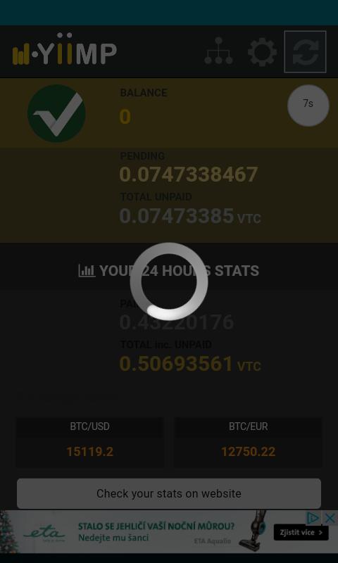 Yiimp Balance Monitor