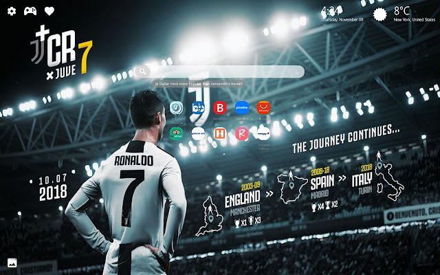 Ronaldo Juventus Wallpapers HD New Tab