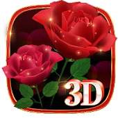 3D True Love Red Rose Theme