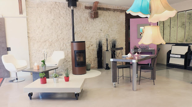Showroom de 100 m² carré dédié au béton ciré