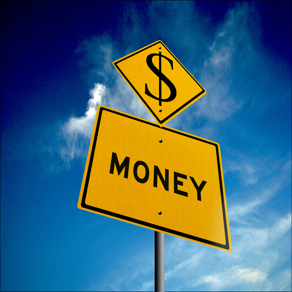 money | Money ahead -road sign I am the designer for 401kcal… | Flickr