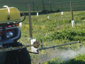 Photo: Pormenor do pulverizador em trabalho.