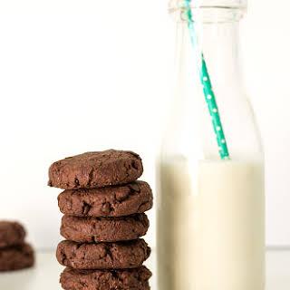 Chewy Vegan Double Chocolate Cookies.