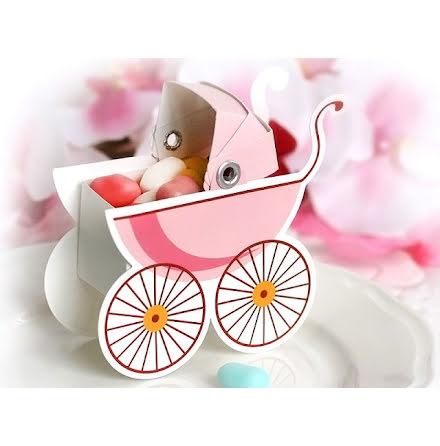 Presentask barnvagn - rosa