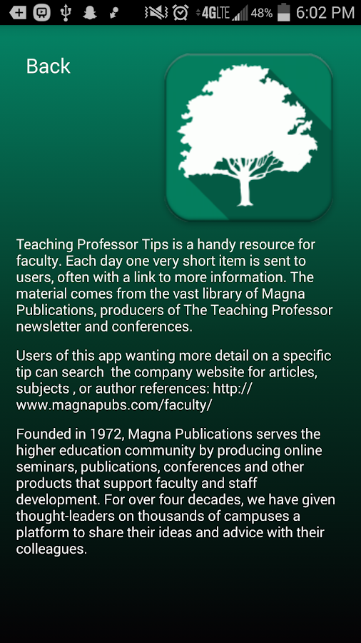 Teaching Professor Tips- screenshot