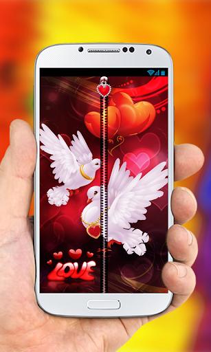 Love Birds Zipper Lock Screen