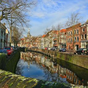 Gouda by Merina Tjen - Lim - City,  Street & Park  Street Scenes ( old, street, holland, gouda, canal )